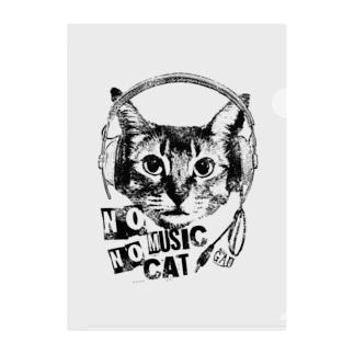 Nobigao Music Cat Clear File Folder