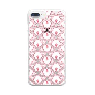 椿(白) Clear smartphone cases
