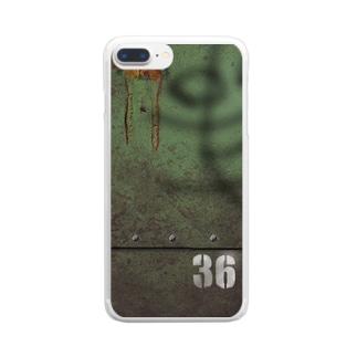 36鉄 Clear smartphone cases