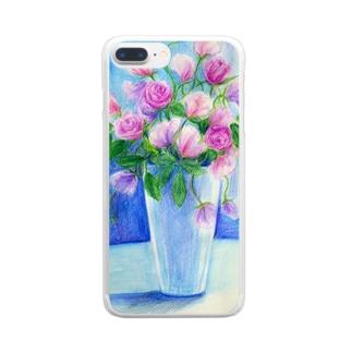 盛り花 Clear smartphone cases