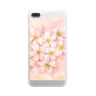 桜 クリアスマートフォンケース