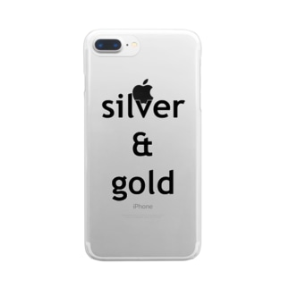 silver & gold Clear smartphone cases