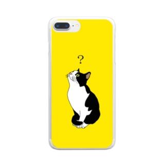 ?ねこ Clear smartphone cases
