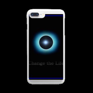 宇宙の贈りものの「Passing」 Clear smartphone cases