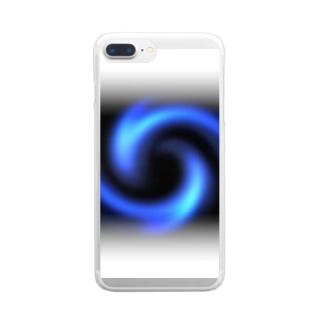「瞑想エンブレム」 Clear smartphone cases