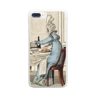 1818年の食卓風景 クリアスマートフォンケース