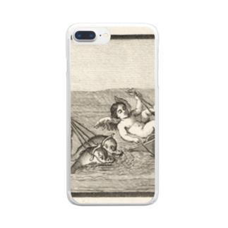 天使のイルカ車レース Clear smartphone cases