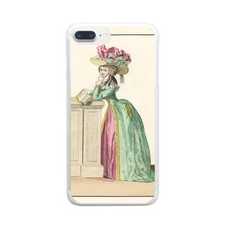 マリーアントワネット時代のファッション Clear smartphone cases