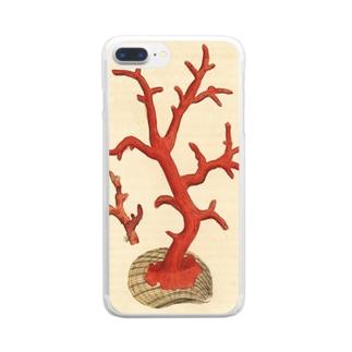 赤サンゴ クリアスマートフォンケース