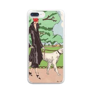 愛犬とお散歩 クリアスマートフォンケース