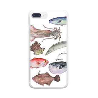 博多前 HAKATAMAE Clear smartphone cases