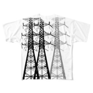 変電等伯001 Full graphic T-shirts