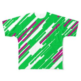 Quadrangles フルグラフィックTシャツ