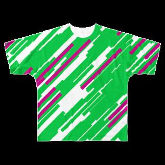レオナのQuadrangles フルグラフィックTシャツ