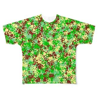 Camouflage(Cat's Footmark) フルグラフィックTシャツ
