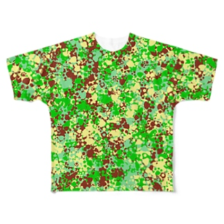 Camouflage(Cat's Footmark) Full graphic T-shirts