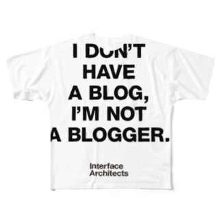 I'm not Blogger Full graphic T-shirts
