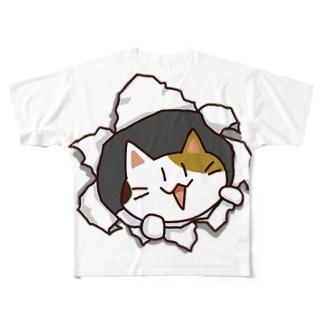 ねこバリッ Full graphic T-shirts