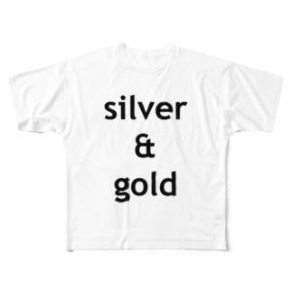 silver & gold Full graphic T-shirts