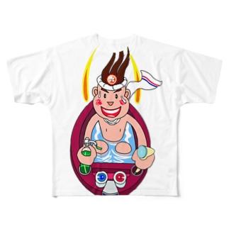 湯田六輔 異能兄弟シリーズ06 Full graphic T-shirts