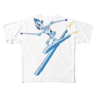 スキーロボ大滑降 Full graphic T-shirts