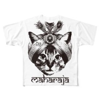 Nobigao マハラジャキャット Full graphic T-shirts