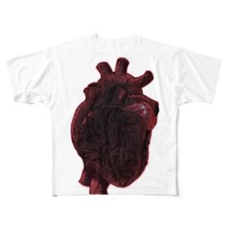 心臓 Full graphic T-shirts