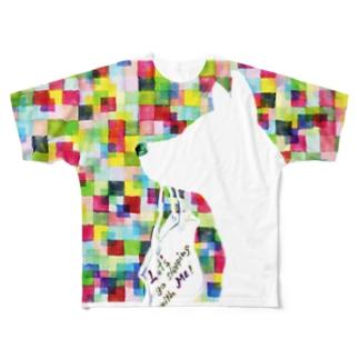 買い物に行こうよ♪ Full graphic T-shirts