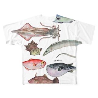 博多前 HAKATAMAE フルグラフィックTシャツ