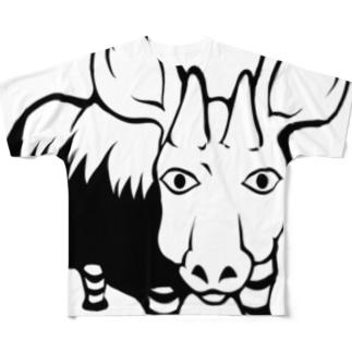 ファングラーTシャツ Full graphic T-shirts