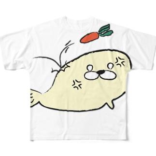 おこりあざらし フルグラフィックTシャツ