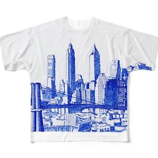 NYC フルグラフィックTシャツ