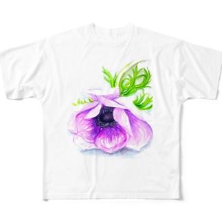 アネモネ フルグラフィックTシャツ