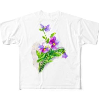 ビオラ フルグラフィックTシャツ