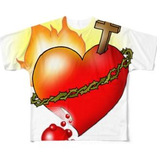 燃えるみこころ Full graphic T-shirts