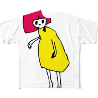 おんなのこ フルグラフィックTシャツ