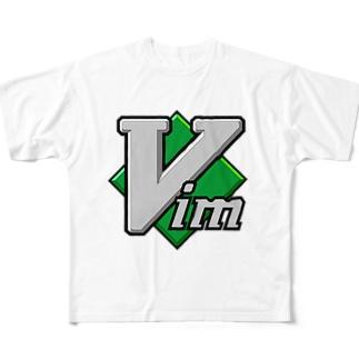 Vim フルグラフィックTシャツ