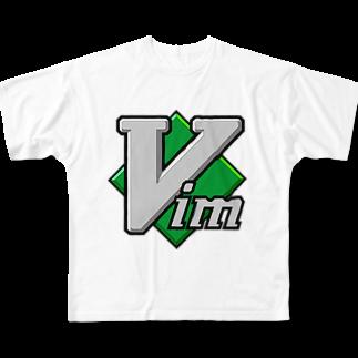 kmdsbngのVimフルグラフィックTシャツ