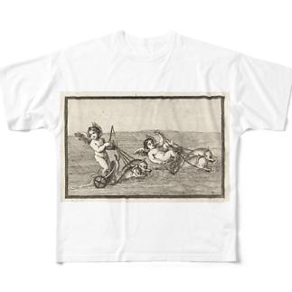 天使のイルカ車レース Full graphic T-shirts
