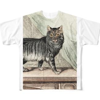 ネコちゃん フルグラフィックTシャツ