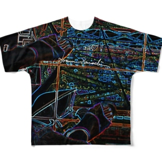 Tokyo Tower Sky Full graphic T-shirts