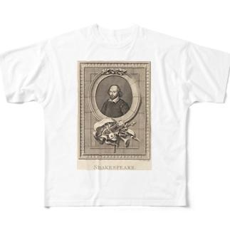 ウィリアム・シェイクスピア Full graphic T-shirts