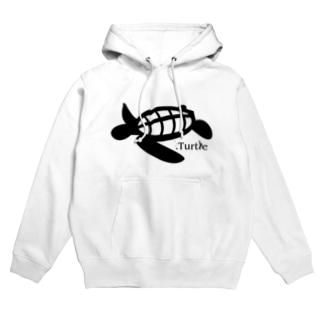 Turtle-Black フーディ