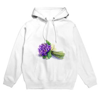 スミレの花束 フーディ