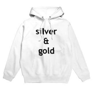 silver & gold Hoodies