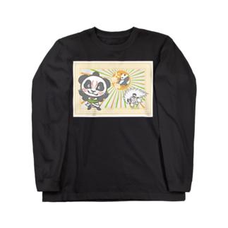 パンダ+歌舞伎 Long sleeve T-shirts
