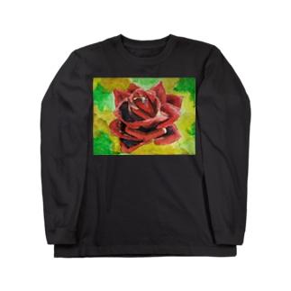 ばら Long sleeve T-shirts