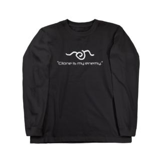 「クリオネは僕の敵。」 Long sleeve T-shirts