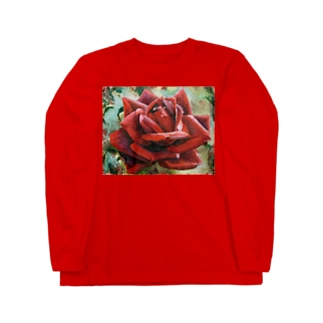 薔薇 ロングスリーブTシャツ