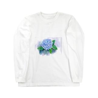 紫陽花 ロングスリーブTシャツ